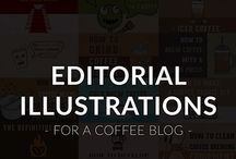 Editorial Illustrations - For a coffee blog - Roasty.com