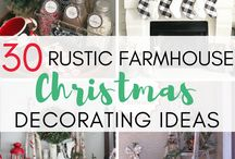 Farmhouse CHRISTMAS / A gorgeous collection of stunning Farmhouse CHRISTMAS home decor and craft ideas. **Please do not add contributors to this board**