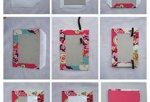 Cuadernos forrados con tela
