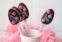 Cucharitas de chocolate