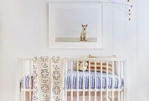 DESIGN:  Nursery / inspiring cribs, artwork, chairs, rugs, toys etc.