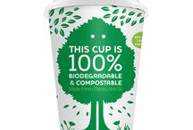 Compostable Coffee Cups / Here is a range of compostable coffee cups made from plants not oil. These cups are manufactured by Ecoware New Zealand.