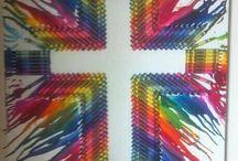 Crayon Art / Cross