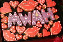 Love, hearts and Valentine's cookies