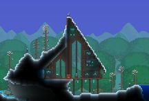 Terraria / Professional house/art builds from terraria.