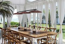 Maison terrasses véranda et toit