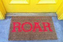 tekst ideer til ny dørmatte dekor..