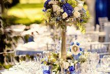 casamento azul dourado