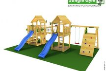 ► playparadises / Connecting outdoor play equipment features to join two or more climbing frames together. Sturdy and secure, the Links allow you to expand your outdoor play equipment for greater inclusion or to adjust to the rising demands of your family.   Check out more at https://www.junglegym.com/climbing-frames/playparadises