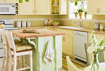 Yellow/orange kitchens
