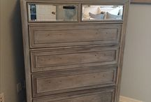 Rustic bathroom cabinet