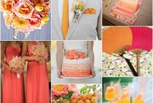 Green-orange-crimson wedding