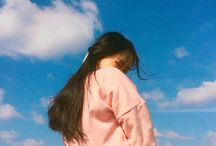 """apparel / """"blue sky, and pink jacket"""""""