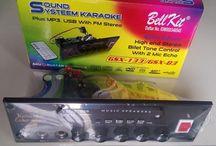 Tone Control Stereo Soundsystem Echo Karaoke  Mic mixer