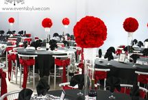 Red black white party