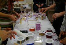 Seifenkurse und Workshops bei Verzaubereien / Bilder von unseren Seifen- und Naturkosmetikworkshops. Die Workshops finden in meiner Werkstatt auf der Zitadelle Spandau In Berlin statt.