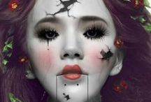 Cracked doll makeup / Costume