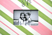 Large 4x6 Personalized, Hand-Painted Picture Frame