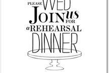 {Wedding} Rehearsal Dinner