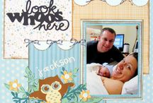 Look who has arrived scrapbook page