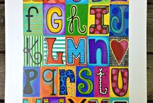 Typography art / I love typography. It is art. I love to apply it to my paintings
