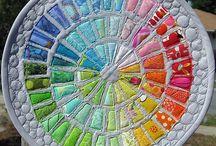 Colour wheel quilts