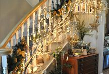Lighted garland interior