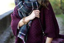 fashion: plaid scarves and head wraps