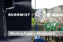 Misting Fans / Misting fans and evaporative coolers are important for safety and comfort.  Stay cool with auraMist, VersaMist, WayCool and Evolution Blue Fans. / by DIY Home Center