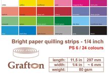 "1/4"" Paper Quilling Strips 6mm / by GraftonPl"