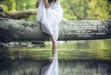 женский портрет на природе