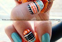 Nail Art / My new obsession #nails #nailart #nailpolish #DIY #beauty #trends #polish #mani #pedi #manicure #pedicure #manicures #pedicures #creative #creativity #fashionista #diva #color #colorful #patterns #pattern #fun / by Briana Krull