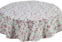 Round Floral Tablecloths