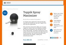 Toppik Spray Maximizer / The Applicator is perfect for filling out your front hairline. For best results, use it with the Toppik Hairline Optimizer, a laser generated template that allows for a perfectly natural hairline that replicates the growth pattern of your own hair.