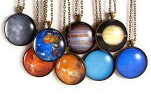 Planet Necklaces