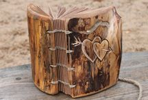 Wood guest book