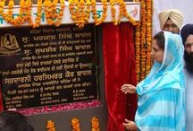 Inauguration of Talwandi-Rama Byepass / Mrs. Harsimrat Kaur Badal, Member Parliament from Bathinda said Congress is trying to woo the electorate in view of ensuing Lok Sabha Polls, Food Security Ordinance could not save congress from elimination. She inaugurated the newly constructed Talwandi-Rama Byepass
