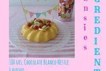 Tarts, sweets, desserts, cakes -> Para golosos y antojosos... Recetas de Anansies