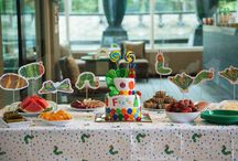 Very Hungry Caterpillar Party / Our son's second birthday party in Bangkok, Thailand, with an Eric Carle theme.