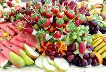 obst und Gemüseplatten