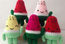 Rebanada de sandia amigurumi / Rebanada de sandia amigurumi patrón gratis #sandia #amigurumi #crochet #patron