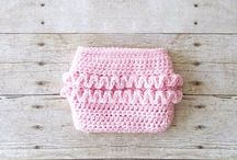 Crochet Baby Clothing & Diaper Covers / Crochet baby diaper cover. Crochet baby bloomers. Crochet baby underwear. Crochet baby shorts. Crochet photography prop. Crochet baby photo prop. Newborn prop.