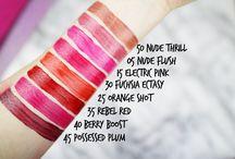 Lipstick & eyeshadow swatches