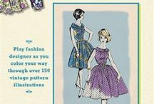 VIntage Notions Coloring Book Therapy