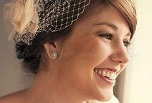 Bridal hair pins/ bridal veil birdcage