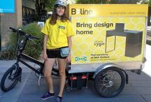 Велодоставка /  Bicycles delivery / Велосипеды можно использовать не только для покатушек, но и для бизнеса. Во многих местах планеты велосипеды используются как  доставочные грузовички и фургончики, передвижные торговые объекты, минимастерские.