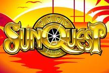 """Sun Quest / SunQuest è una video slot che unisce i simboli tradizionali (ciliegie, """"7"""" e bar) con altri più avanzati, come il bonus (rappresentato dal simbolo con la scritta """"scatter"""") e il jolly (""""wild""""), che aiuta a completare combinazioni vincenti. Tanto oro e tanti colori, per un gioco veramente frizzante."""