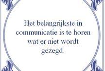 Communicatie / Teksten en afbeeldingen te gebruiken in presentaties over communicatie