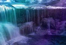 kolorowe wodospady