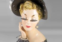 Kitschy Lady Head Vases / Collecting kitschy Lady Head Vase. Visit my blog http://cdiannezweig.blogspot.com/ and my site http://cdiannezweig.blogspot.com/